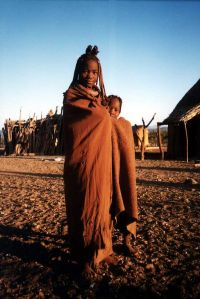 Himba girl and brother