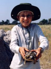 Michael and a tortoise
