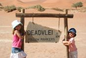 The girls at Deadvlei